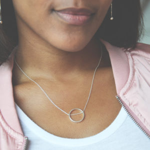 Ring Chain Necklace Lifestyle