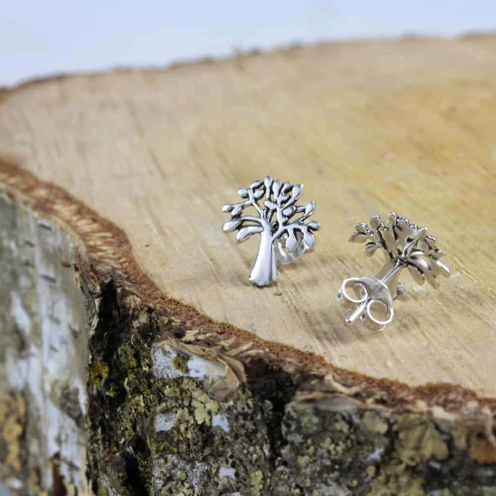 Tree Of Life Cutout Stud Earrings