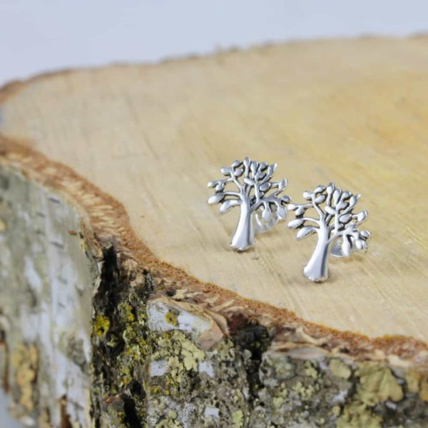 Tree Of Life Cutout Stud Earrings 3