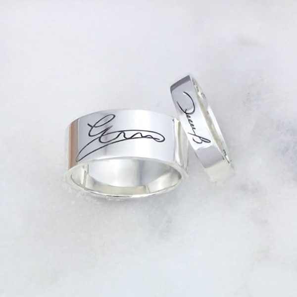 Engraved Signature Rings