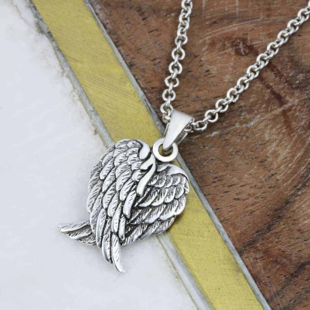 Angel Wings Heart Necklace