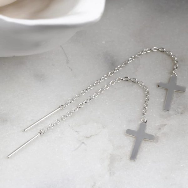 Cross Threader Earrings 1
