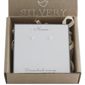 Curved Heart Stud Earrings