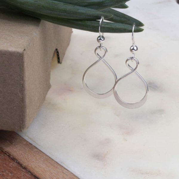 Dainty Eternity Dangle Earrings