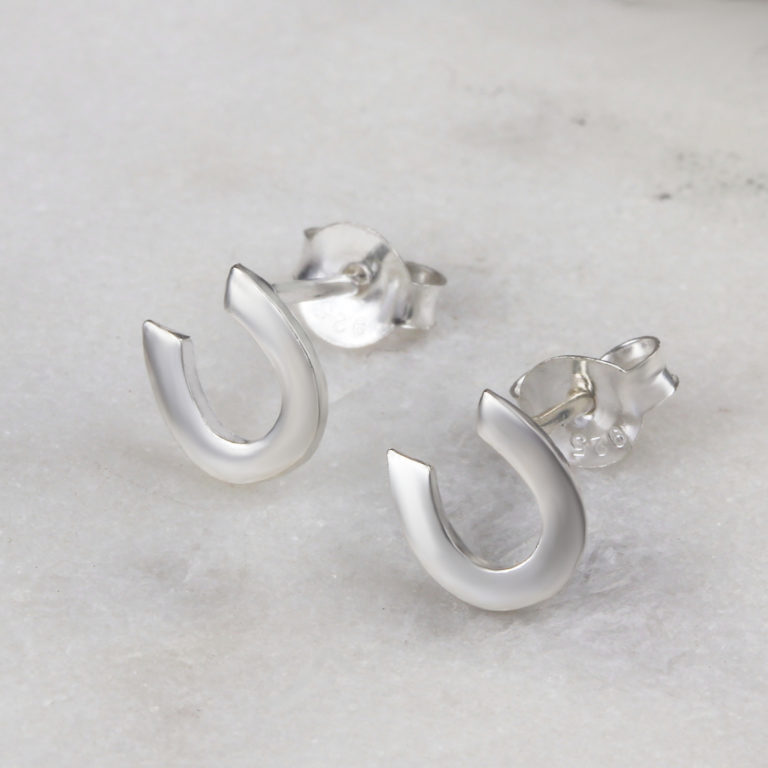 Horse Shoe Stud Earrings