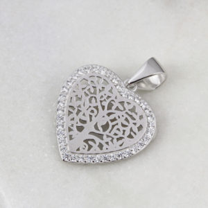 Tree Of Life Cubic Zirconia Pendant