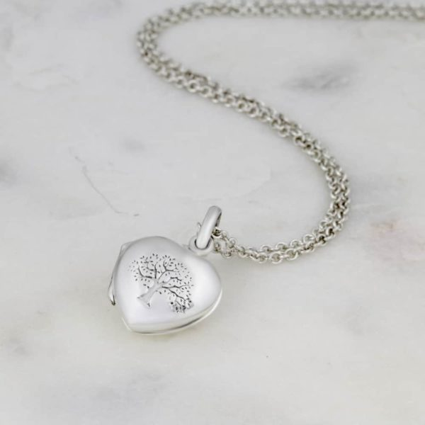 Tree Of Life Heart Locket Necklace