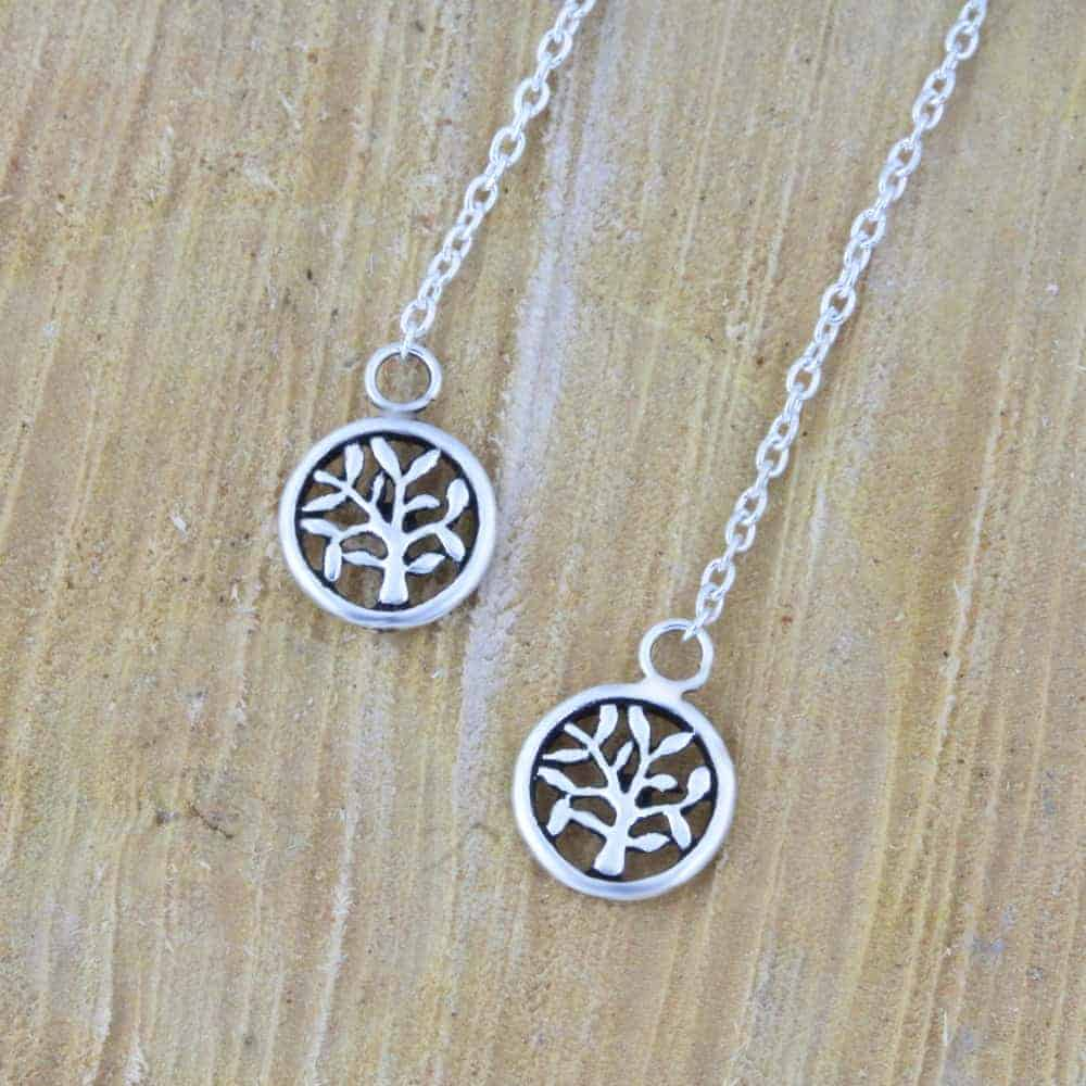 Tree Of Life Threader Earrings