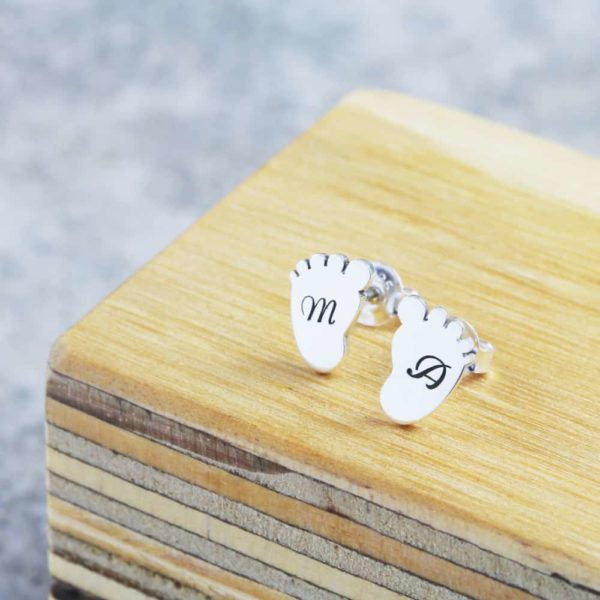 Baby Feet Stud Earrings