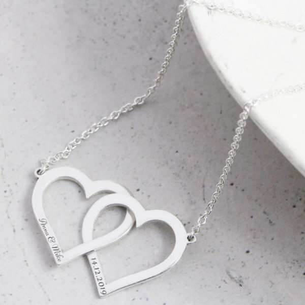 Interlinked Open Heart Necklace