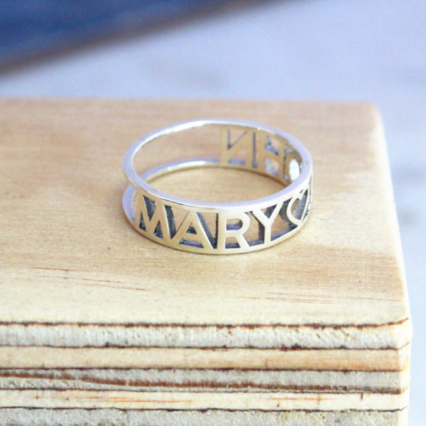 Name Cutout Ring 1