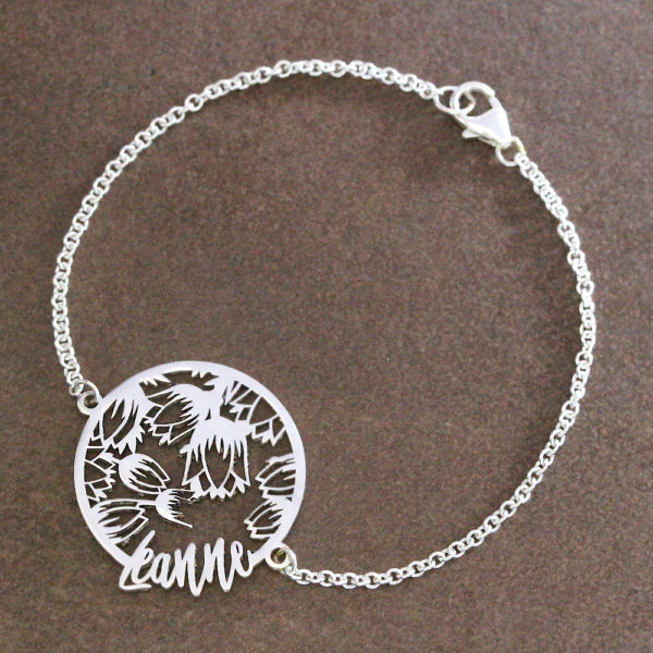 Tulip Coin Name Bracelet