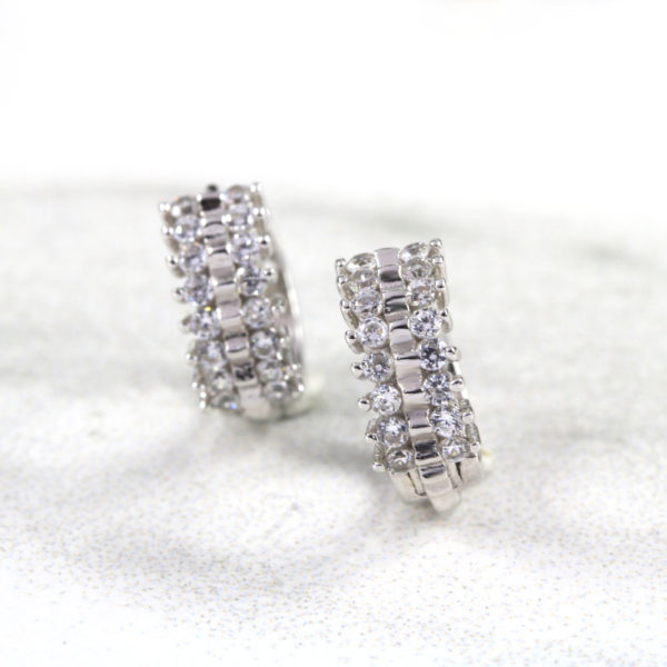 Sparkly Hoop Huggie Earrings