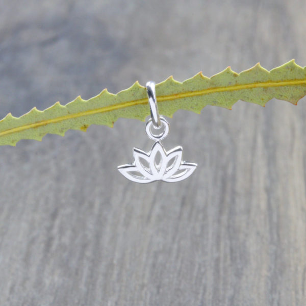 Dainty Lotus Flower Charm