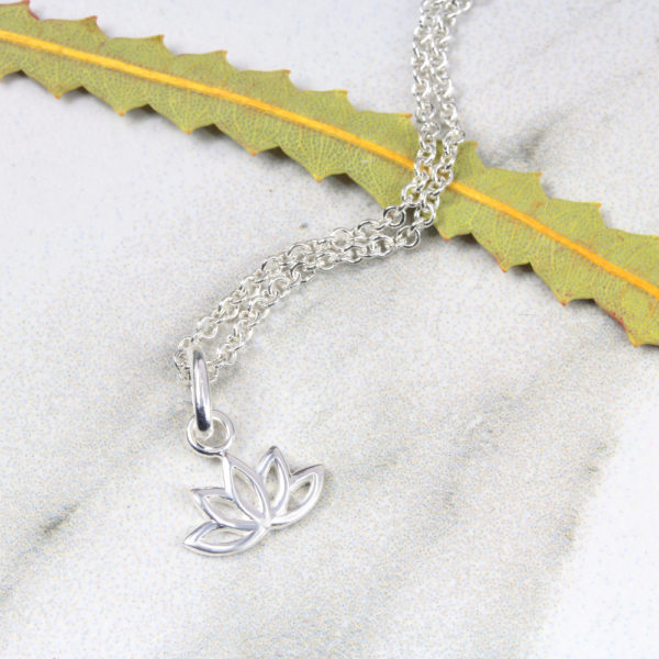 Dainty Lotus Flower Necklace