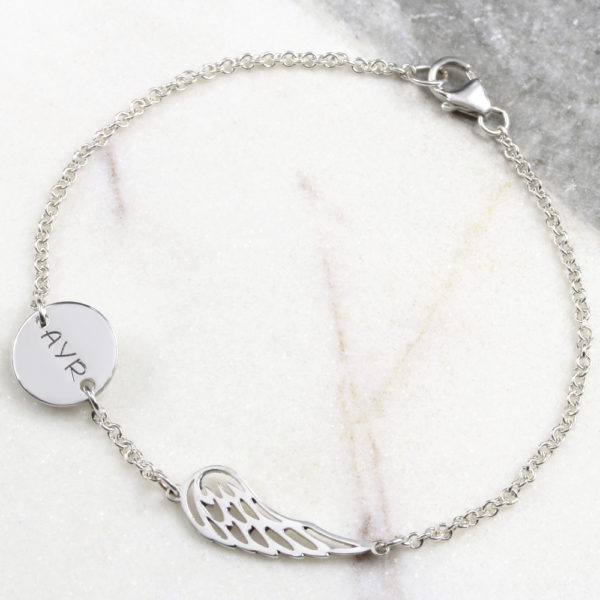 Angel Wing & Coin Connector Bracelet