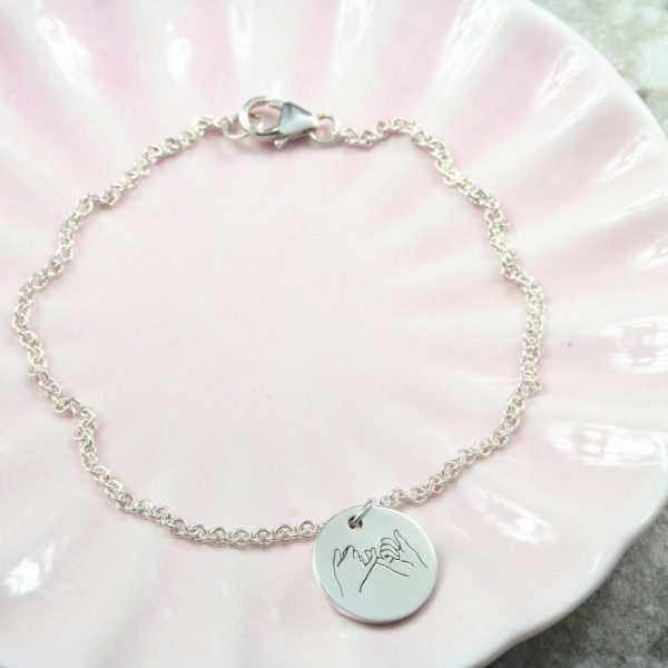 Pinky Promise Initial Charm Bracelet