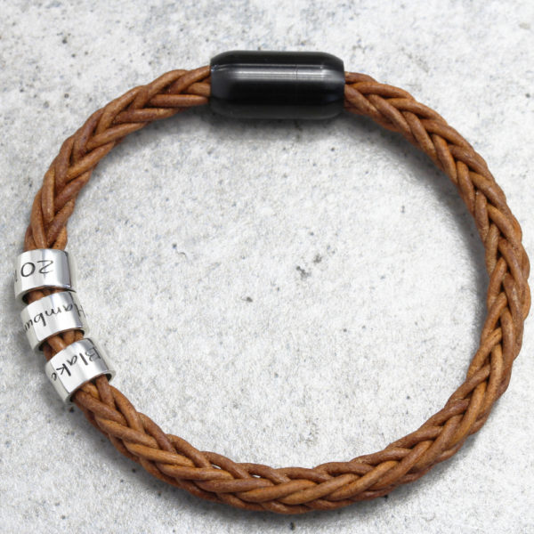 Light Brown Mens Leather Bracelets in South Africs by Silvery South Africa