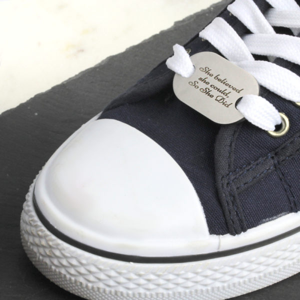 Shoe Lace Tag Large - Stainless Steel