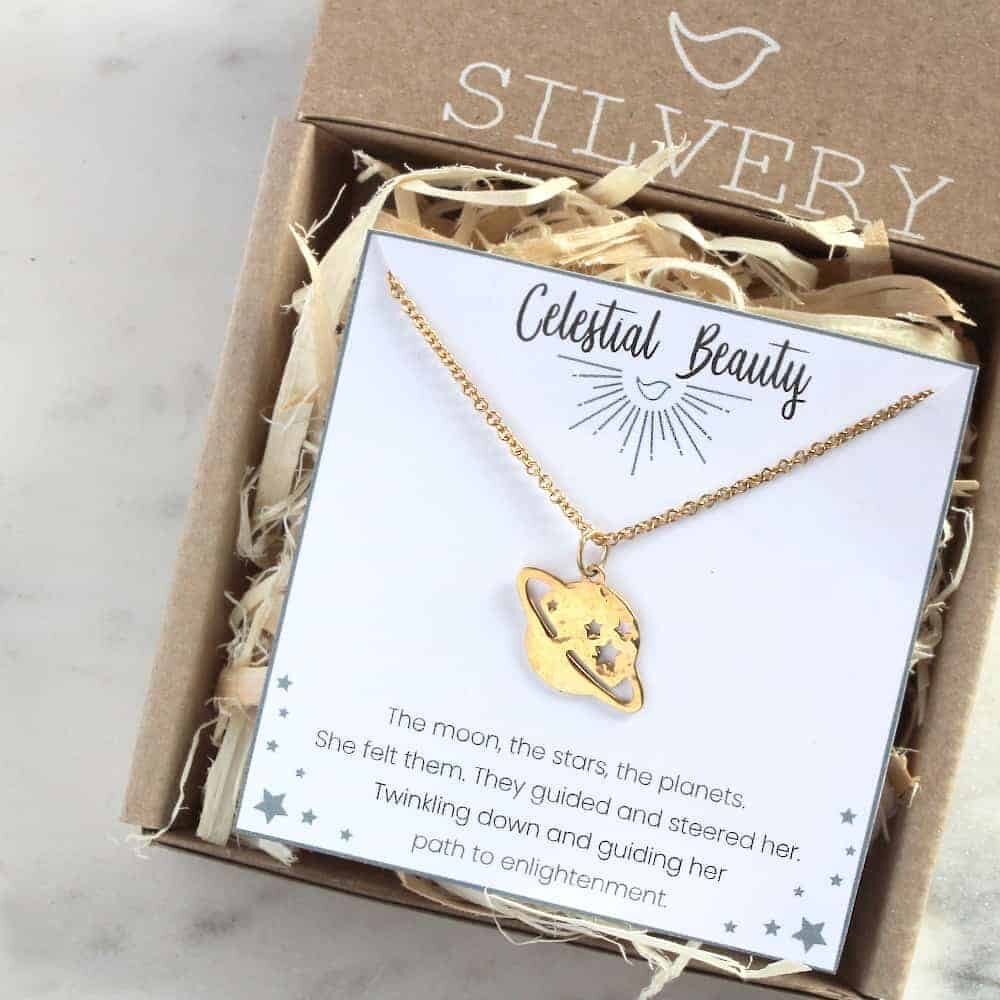 Power Of Saturn Necklace in Box