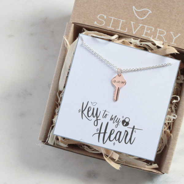 Key To My Heart Necklace in Box