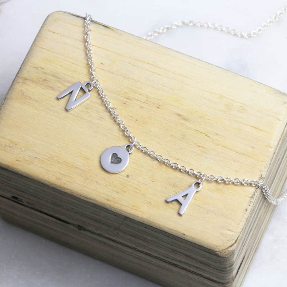 Initial & Coin Boho Necklace