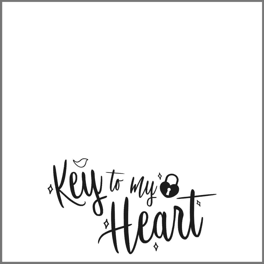 Key to my Heart Backing Card