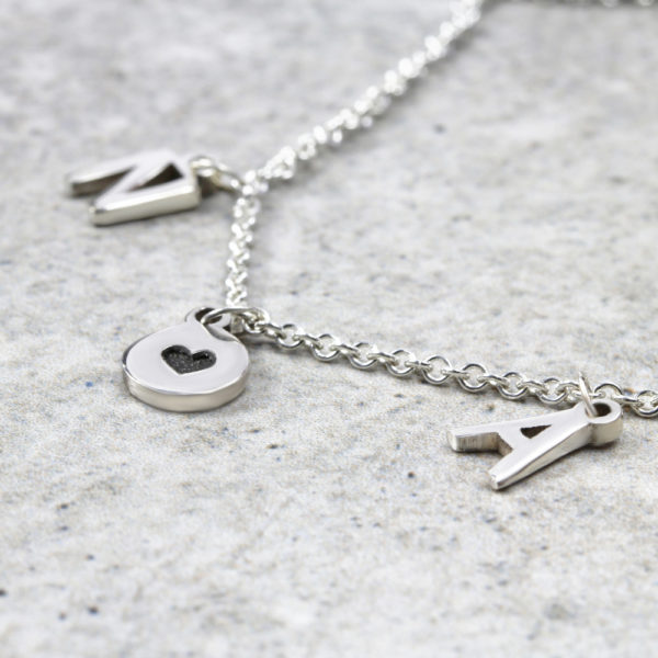 925 Sterling Silver Personalised Necklace Initial & Coin Boho Necklace