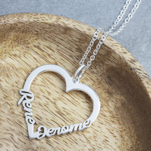 custom heart necklace in south africa by silvery jewellery heart name necklace