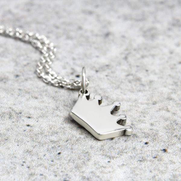 925 Sterling Silver Crown Necklace