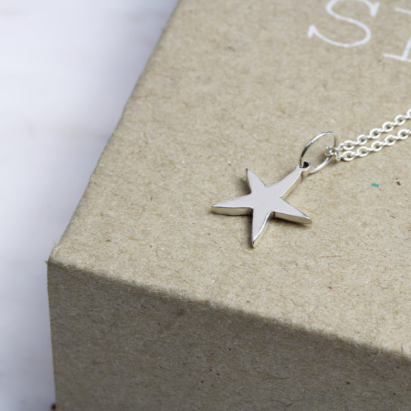 925 Sterling Silver Starfish Necklace