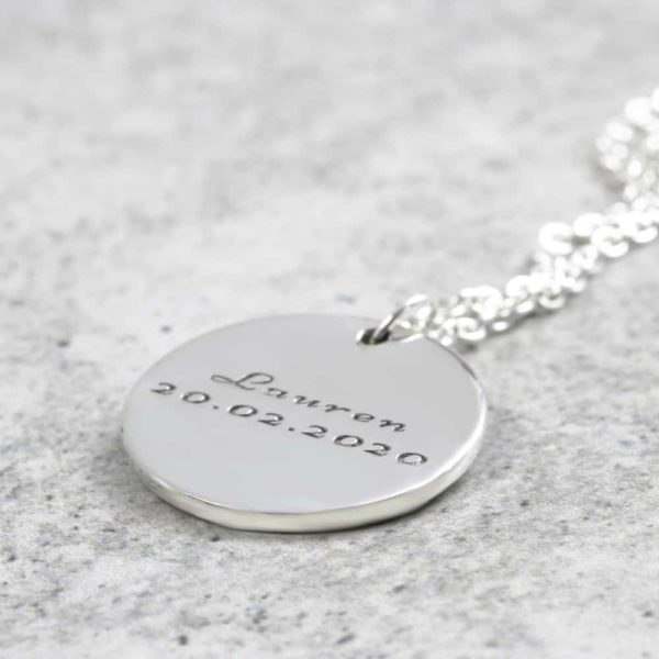 925 Sterling Silver 15mm Coin Necklace