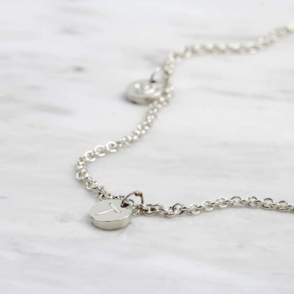 925 Sterling Silver Boho Coin Necklace