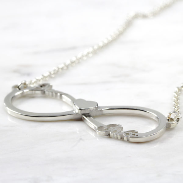 925 Sterling Silver Heart Infinity Name Necklace