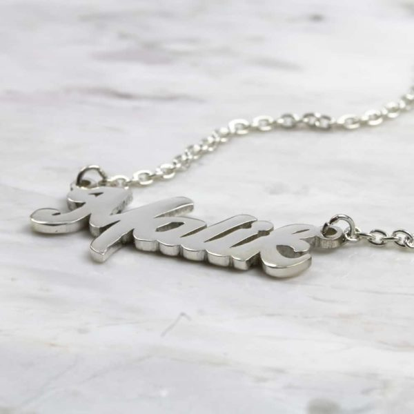 925 Sterling Silver Name Necklace Mentega
