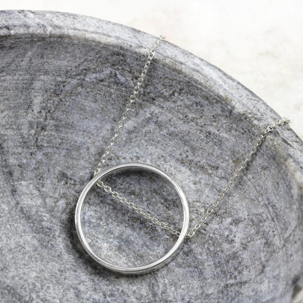 Custom Necklace RIng Chain Necklace Silvery Jewellery (26)
