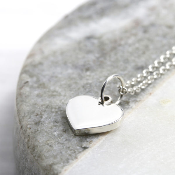 Dainty Heart Necklace Silvery Jewellery South Africa