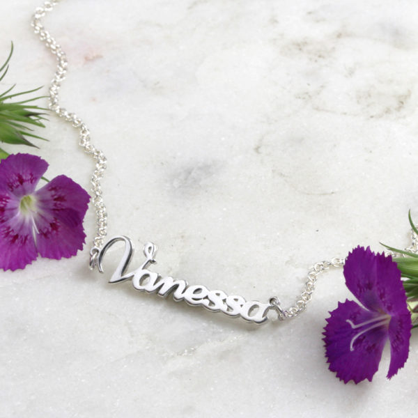 925 Sterling Silver Dainty Name Necklace