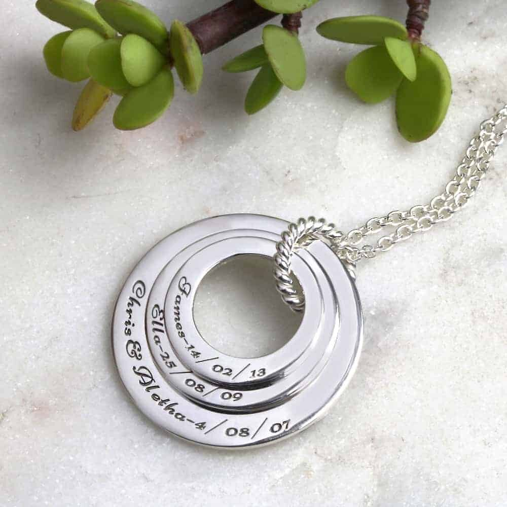 Engraved Family Names Necklace South Africa