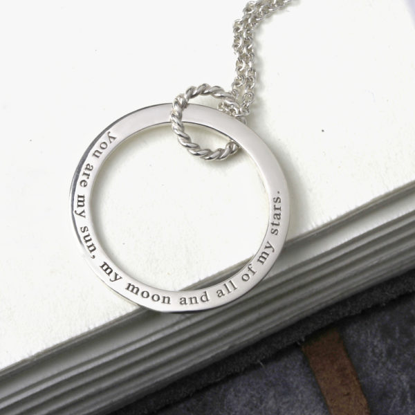 Engraved Unity Hoop Necklace South Africa