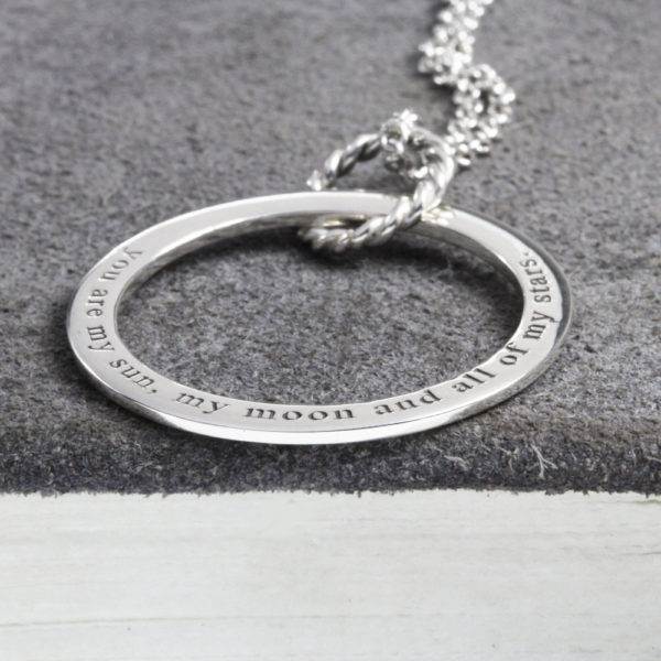 Engraved Unity Hoop Necklace South Africa with family names
