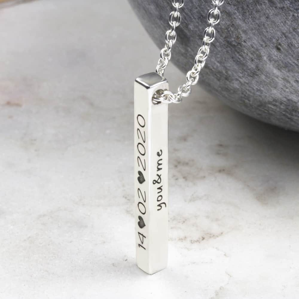Four Sided Personalised Bar Necklace South Africa