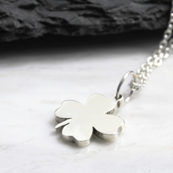 Lucky Clover Neklace Silvery Jewellery South Africa