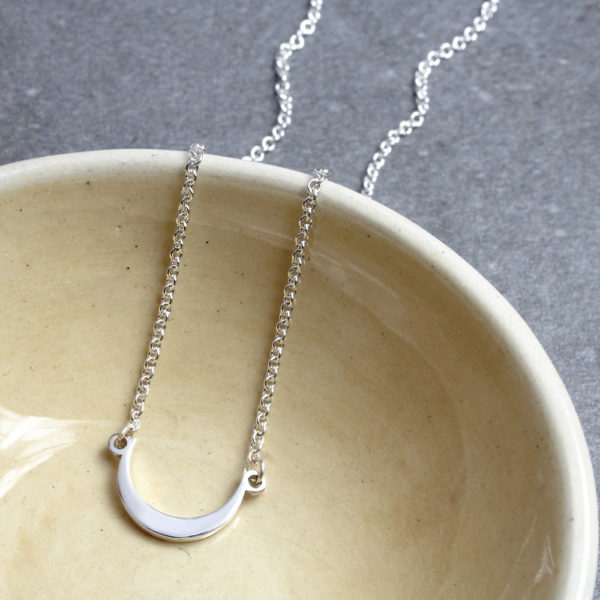Moon Connector Necklace Silvery Jewellery