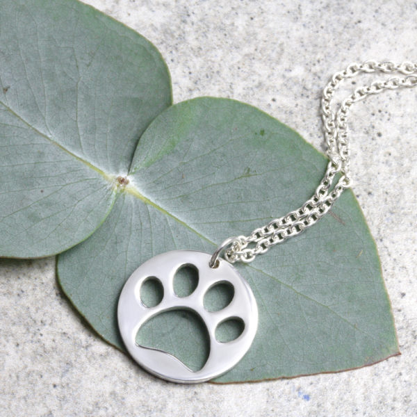 Paw Print Coin Necklace