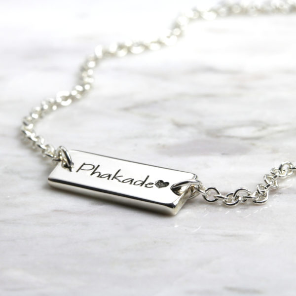 Personalised Bracelet Identity Short Bar Bracelet Silvery Jewellery South Africa