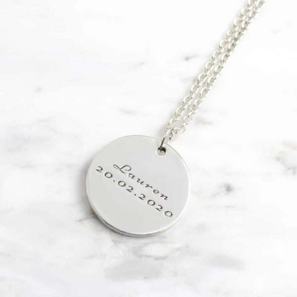 925 Sterling Silver 20mm Coin Necklace