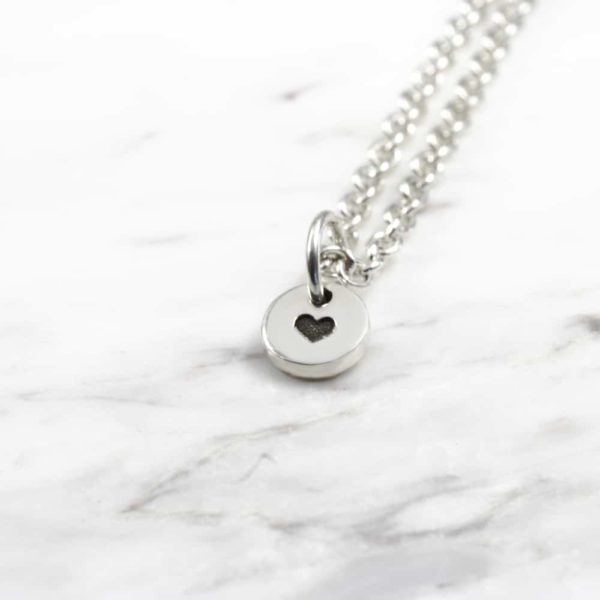 925 Sterling Silver 6mm Coin Necklace