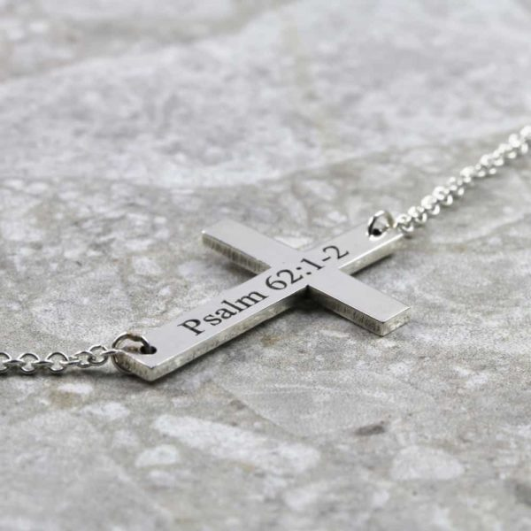 925 Sterling Silver Cross Connector Necklace