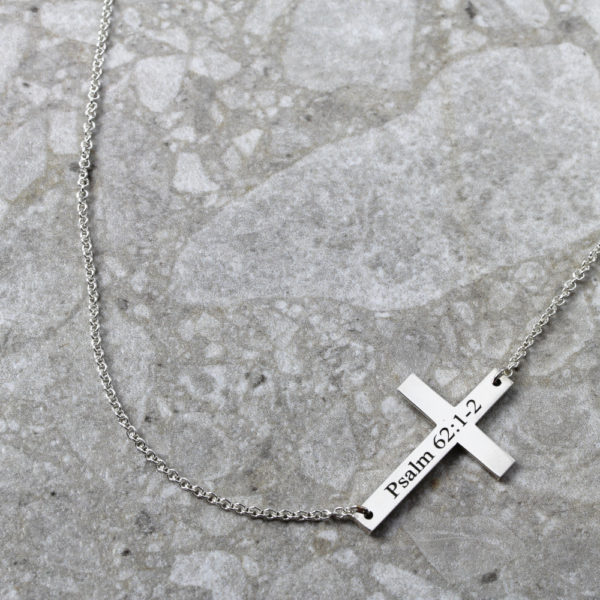 Personalised Necklace Cross Connector Necklace Silvery Jewellery